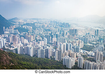 Residential and business area of east Hong Kong