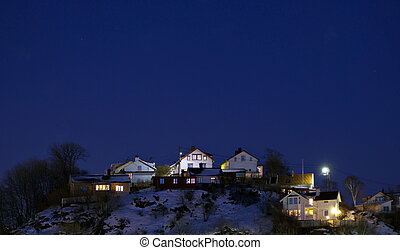 residential area at night