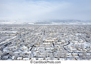 residential area of Fort Collins in northern Colorado