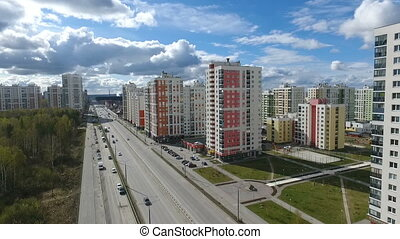 Residential area of the big city