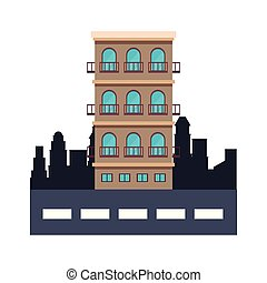 Residential building isolated