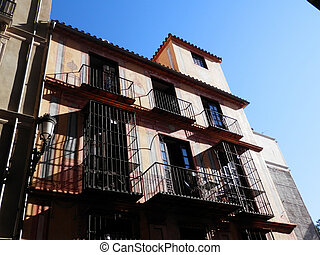 Residential Building with Balconies