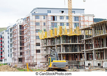 Residential buildings construction area