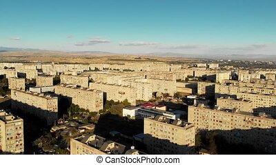 Residential buildings in Georgia Rustavi city. old concrete...