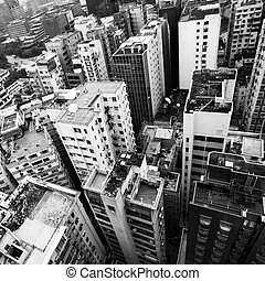 Residential buildings in Hong Kong city