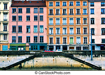 Residential buildings in Lyon, France