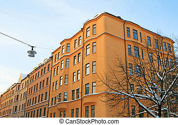 Residential buildings in the center of Stockholm