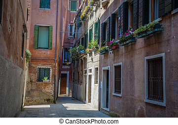 Residential buildings in Venice