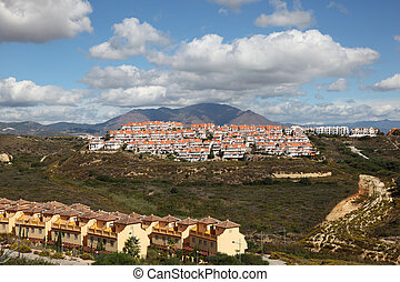 Residential buildings on the Costa del Sol, Andalusia Spain