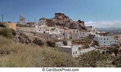 Residential buildings on the island of Santorini