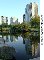 Residential buildings Vancouver BC. Canada.