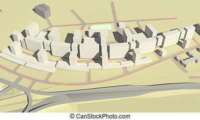 Residential complex (3d rendering)