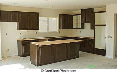 Residential Construction Remodel - Finished interior wood...