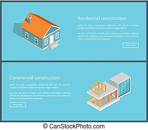 Residential Construction Set Vector Illustration