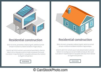 Residential Construction Text Vector Illustration