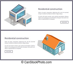 Residential Construction Web Vector Illustration