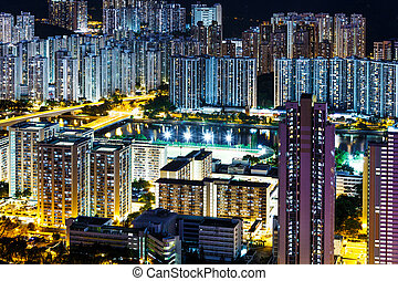 Residential district in Hong Kong