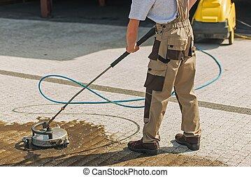 Residential Driveway Washing