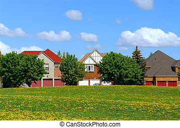 Residential homes - Residential upscale homes with park view...