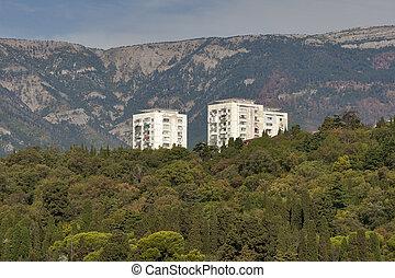 Residential houses in Massandra, Crimea.