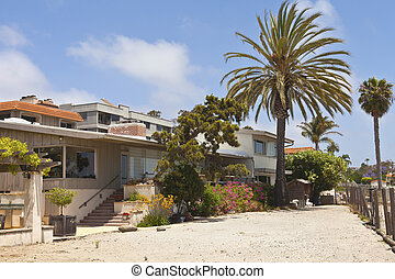 Residential houses near the beach Point Loma California. -...