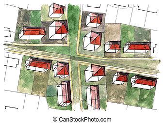 Residential houses quarter