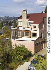 Residential neighborhood Seattle WA.