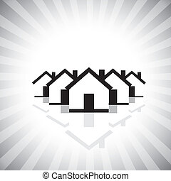 residential real estate or property market icon(symbol) of ...