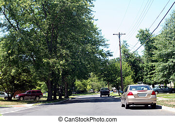 Residential Street 2 - View of a suburban American...
