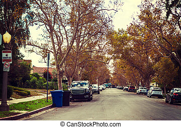residential street in Los Angeles