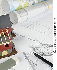 Blueprints and house structure