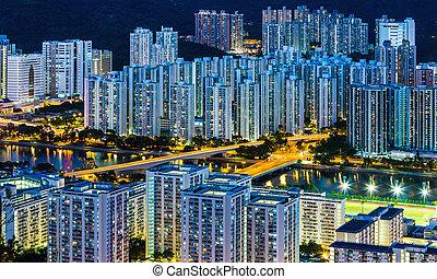 residentieele stadsdeel, in, hong kong