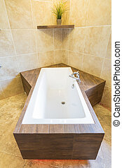 residenza, unico, vasca bagno