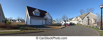 residenziale, casa, panorama
