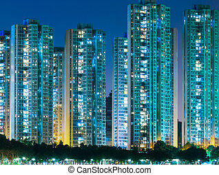 residenziale, hong, distretto, kong