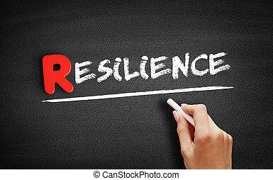 Resilience text on blackboard