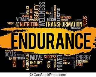 resistencia, nube, palabra, condición física