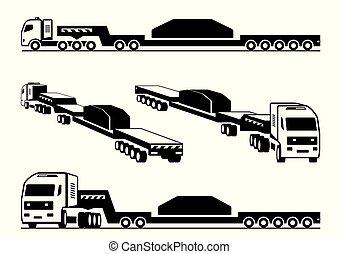 resistente, caminhão, transportes, carga