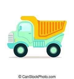resistente, coloridos, entulho, ilustração, equipamento, vetorial, maquinaria, caminhão, construção, caricatura