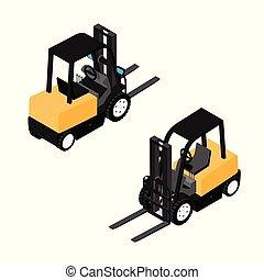 resistente, forklifts, confiança, carregador, equipamento,...