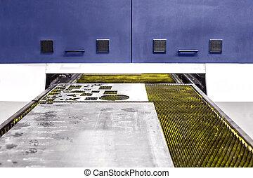 resistente, laser industrial, cortador