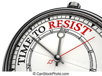 resistere, concetto, orologio tempo