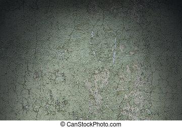 resistido, afligido, grayish, textura, lit, verde, dramáticamente