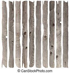 resistido, antigas, madeira, pranchas