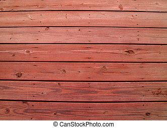 resistido, coberta madeira, com, redwood