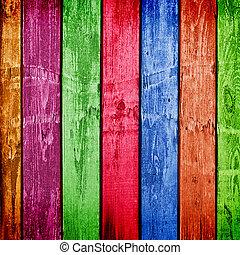 resistido, de madera, resumen, ilustración, multicolor, planks., fondo