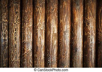 resistido, de madera, troncos, viejo, textured, madera