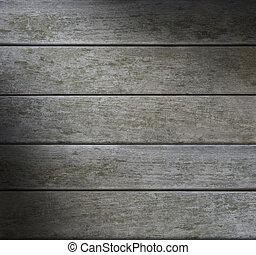 resistido, grayish, lit, madera, horizontal, diagonalmente