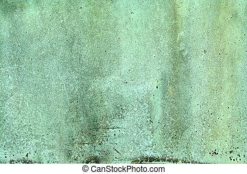 resistido, verde, cobre, fundo
