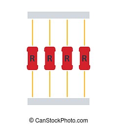 Resistor Tape Icon. Flat Color Design. Vector Illustration.